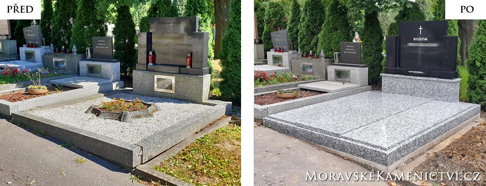 Dvojhrob - renovace
