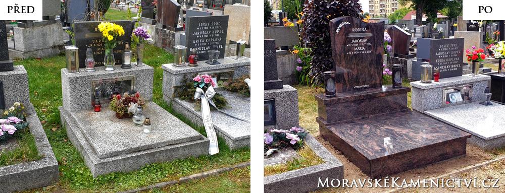 Urnový hrob - renovace