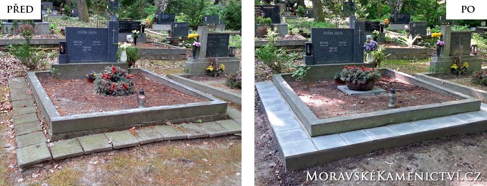 Dlažba kolem hrobu