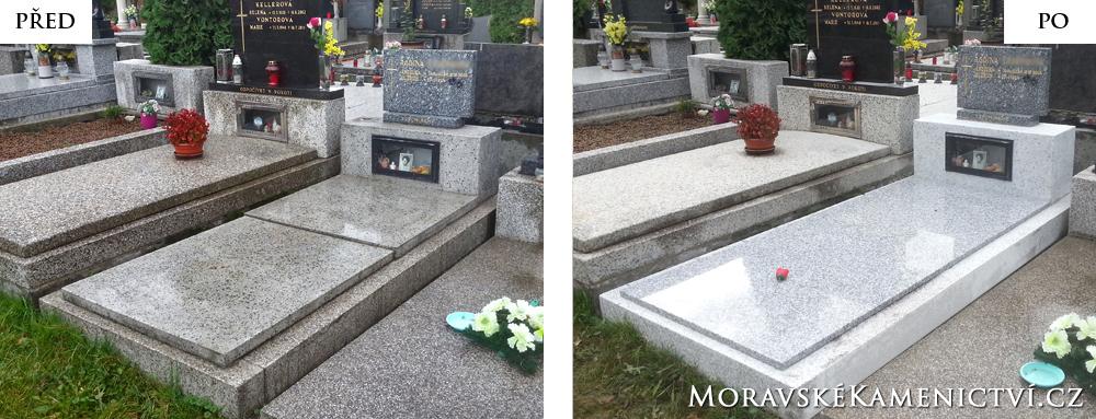 Žulová deska na hrob