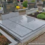 Žulová deskaDvojhrob na hrob
